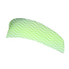 Green Line Zigzag Pattern Chevron Stretchable Headband
