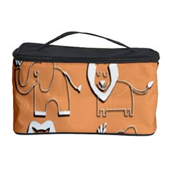 Lion Pattern Wallpaper Vector Cosmetic Storage Case
