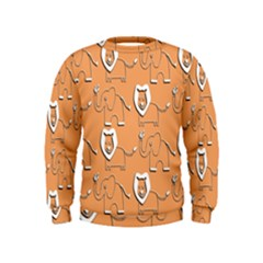 Lion Pattern Wallpaper Vector Kids  Sweatshirt