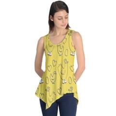 Chicken Chick Pattern Wallpaper Sleeveless Tunic