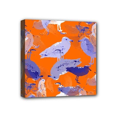 Seagull Gulls Coastal Bird Bird Mini Canvas 4  X 4