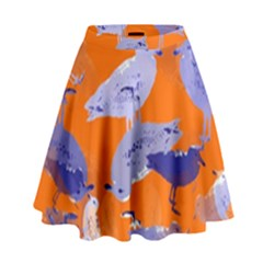Seagull Gulls Coastal Bird Bird High Waist Skirt by Nexatart
