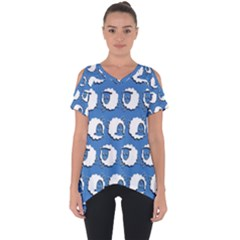 Sheep Pattern Wallpaper Vector Cut Out Side Drop Tee
