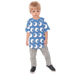 Sheep Pattern Wallpaper Vector Kids Raglan Tee