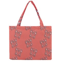 Butterfly Pink Pattern Wallpaper Mini Tote Bag