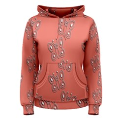 Butterfly Pink Pattern Wallpaper Women s Pullover Hoodie