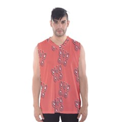 Butterfly Pink Pattern Wallpaper Men s Basketball Tank Top