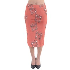 Butterfly Pink Pattern Wallpaper Midi Pencil Skirt
