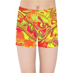 Modern Abstract 44a Kids Sports Shorts by MoreColorsinLife
