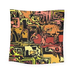 Modern Abstract 47c Square Tapestry (small) by MoreColorsinLife