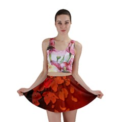 Cherry Blossom, Red Colors Mini Skirt by FantasyWorld7