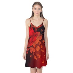 Cherry Blossom, Red Colors Camis Nightgown by FantasyWorld7