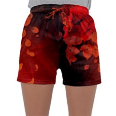 Cherry Blossom, Red Colors Sleepwear Shorts by FantasyWorld7