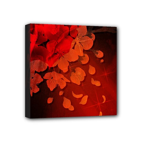 Cherry Blossom, Red Colors Mini Canvas 4  X 4  by FantasyWorld7
