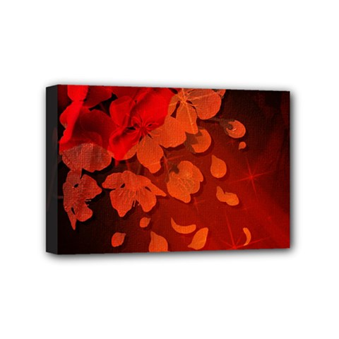 Cherry Blossom, Red Colors Mini Canvas 6  X 4  by FantasyWorld7