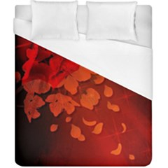 Cherry Blossom, Red Colors Duvet Cover (california King Size) by FantasyWorld7