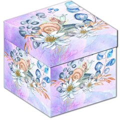 Snail And Waterlily, Watercolor Storage Stool 12   by FantasyWorld7