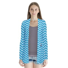 Chevron Shark Pattern Drape Collar Cardigan by emilyzragz