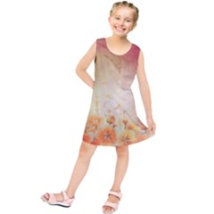 Flower Power, Cherry Blossom Kids  Tunic Dress by FantasyWorld7