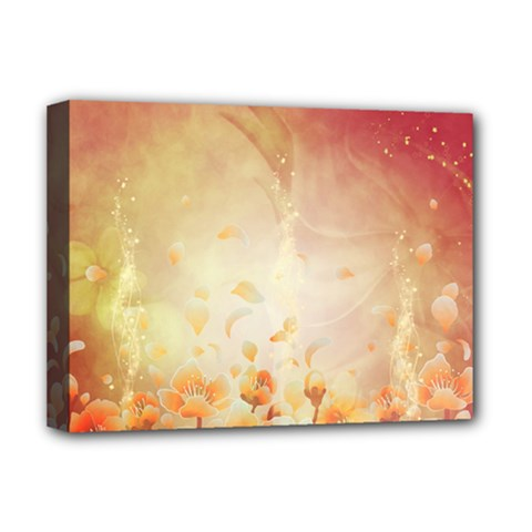 Flower Power, Cherry Blossom Deluxe Canvas 16  X 12   by FantasyWorld7