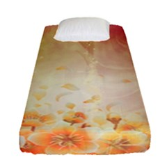 Flower Power, Cherry Blossom Fitted Sheet (single Size) by FantasyWorld7