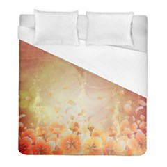 Flower Power, Cherry Blossom Duvet Cover (full/ Double Size) by FantasyWorld7