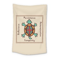 Turtle Animal Spirit Small Tapestry by linceazul