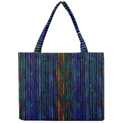 Stylish Colorful Strips Mini Tote Bag by gatterwe