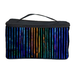 Stylish Colorful Strips Cosmetic Storage Case by gatterwe