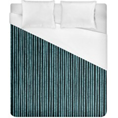 Stylish Frost Blue Strips Duvet Cover (california King Size) by gatterwe