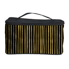 Stylish Golden Strips Cosmetic Storage Case by gatterwe