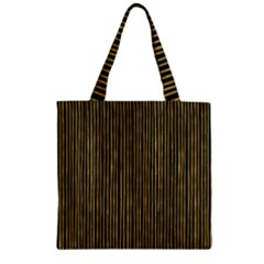 Stylish Golden Strips Zipper Grocery Tote Bag by gatterwe