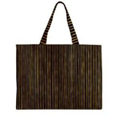 Stylish Golden Strips Zipper Mini Tote Bag by gatterwe