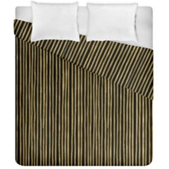 Stylish Golden Strips Duvet Cover Double Side (california King Size) by gatterwe