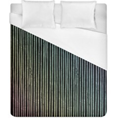 Stylish Rainbow Strips Duvet Cover (california King Size) by gatterwe