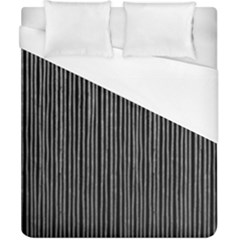 Stylish Silver Strips Duvet Cover (california King Size) by gatterwe