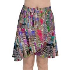 Colorful Shaky Paint Strokes                                 Chiffon Wrap Front Skirt