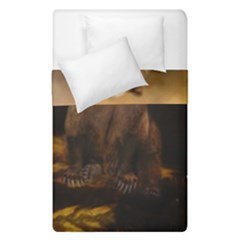Roaring Grizzly Bear Duvet Cover Double Side (single Size) by gatterwe