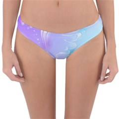 Wings Drawing Soft Background  Reversible Hipster Bikini Bottoms by amphoto