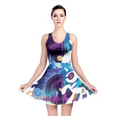 Vinyl Stream Wall  Reversible Skater Dress