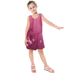 Vector Drawing Pattern Plant Light  Kids  Sleeveless Dress