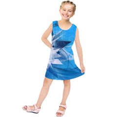 Star Cube Sphere Lines Rays Vector  Kids  Tunic Dress