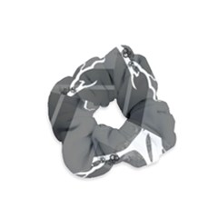 Tree Ornaments Black White Gray Velvet Scrunchie