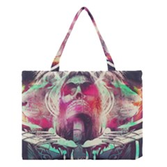 Skull Shape Light Paint Bright 61863 3840x2400 Medium Tote Bag by amphoto
