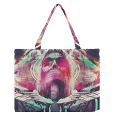 Skull Shape Light Paint Bright 61863 3840x2400 Zipper Medium Tote Bag by amphoto