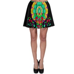 Rain Meets Sun In Soul And Mind Skater Skirt by pepitasart