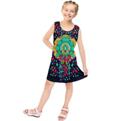 Rain Meets Sun In Soul And Mind Kids  Tunic Dress by pepitasart