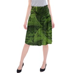 Plant Lines Points Shapes  Midi Beach Skirt by amphoto