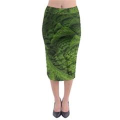 Plant Lines Points Shapes  Midi Pencil Skirt by amphoto