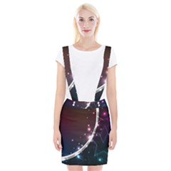 Lines Rays Glare Star Light Shadow  Braces Suspender Skirt by amphoto
